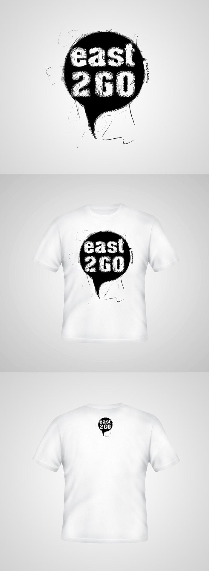 East 2 Go T-shirt design