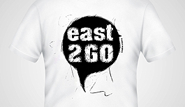 East 2 Go T-shirt design